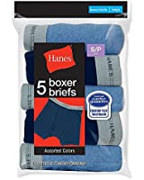 Hanes Boys Boxer Briefs 5-Pack # B749B5