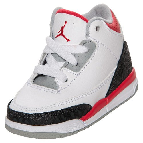 Nike Air Jordan III (3) Retro Bright Crimson (TD) Toddlers Babies 832033-120 (SIZE: 8)