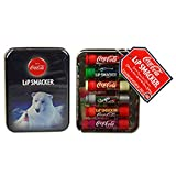Coca-Cola Lip Smacker Polar Bear Gift Tin Collection 6 Piece Lip Gloss