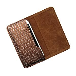 i-KitPit : PU Leather Flip Pouch Case For Micromax A65 Smarty (BROWN)