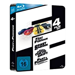 Fast and Furious 1-4 - Limited Jumbo Steelbook [Blu-ray]