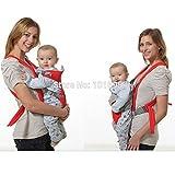 Achievess (TM) parte delantera y trasera mochila para bebé recién nacido portador Sling Bolsa Wrap 4-36meses cómodo suave seguro Baby Carrier rojo rosso