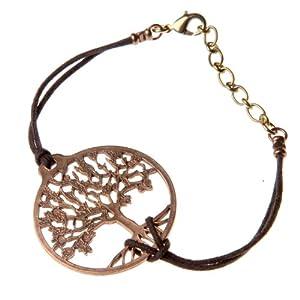 Tree of Life Peace Bronze Adjustable Bracelet