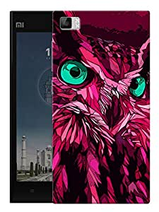 """Crazy Looking Owl Printed Designer Mobile Back Cover For """"Xiaomi Redmi MI3"""" By Humor Gang (3D, Matte Finish, Premium Quality, Protective Snap On Slim Hard Phone Case, Multi Color)"""