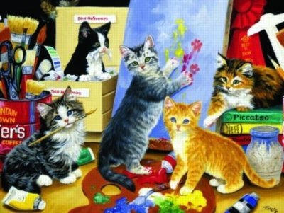 Cheap SunsOut Studio Kittens 1000pc Jigsaw Puzzle by Linda Picken (B003KPV6MI)
