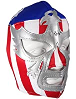 PATRIOT AMERICA Adult Lucha Libre Wrestling Mask (pro-fit) Costume Wear - Stripes