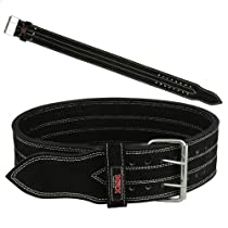 """Mrx Power Lifting Leather Belt with Steel Buckle All Sizes (XXXLarge (48""""-52""""))"""
