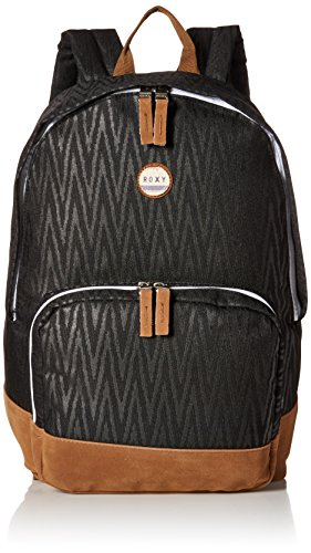 Roxy Junior's Pink Sky Polyester Backpack, Black Chevron, One Size