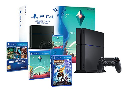 PlayStation-4-Konsole-1-TB-Familienpackung-No-Mans-Sky-Uncharted-Collection-3-im-1-Ratchet-Clank