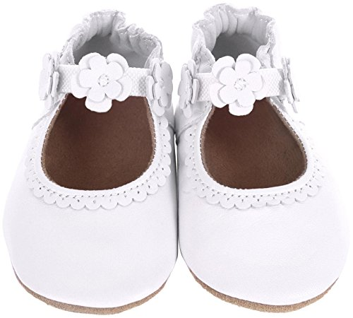 Robeez Claire Mary Jane Crib Shoe (Infant), White, 18-24 Months M US Infant