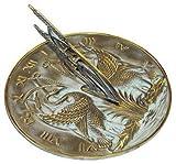 Swan Sundial w Polished Brass