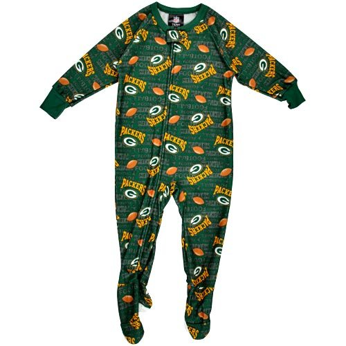 NFL Infant/Toddler Boys' Green Bay Packers Blanket Sleeper (Team Color, 3T) at Amazon.com