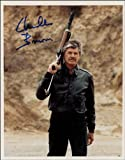 CHARLES BRONSON SIGNED PHOTO PRINT APPROX SIZE 12X8 INCHES