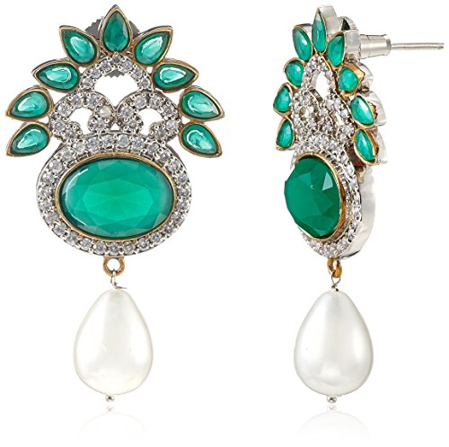 Iris Spirit Of Iris Victorian Drop Earrings For Women (Silver) (VE4024)