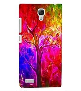 ColourCraft Colourful Tree Design Back Case Cover for XIAOMI REDMI NOTE 4G