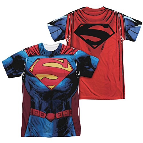 Superman DC Comics Superhero New 52 Costume Adult 2-Sided Print T-Shirt Tee