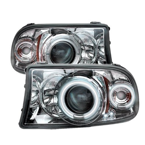 Spyder Auto Pro-Yd-Ddak97-Ccfl-C Dodge Dakota/Durango Chrome Ccfl Led Projector Headlight With Replaceable Leds