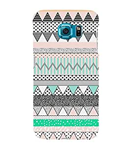 Abstract Zig Zag Pattern 3D Hard Polycarbonate Designer Back Case Cover for Samsung Galaxy S6 :: Samsung Galaxy S6 G920