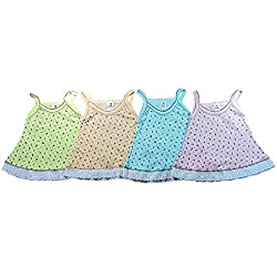 EIO Printed Baby Jhabla for New born/Infants (Pack of 4)