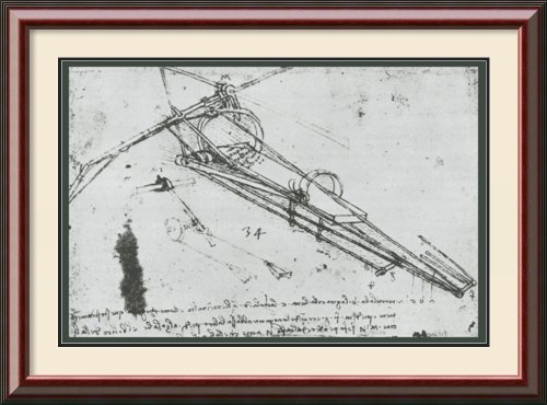 Flying Machine By Leonardo Da Vinci Framed front-1064925