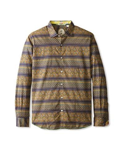 Ganesh Men's Long Sleeve Printed Shirt