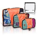 Travel Packing Cubes - Best High Quality Set of 3 Organizer Bags By TrekReady - Plus Bonus TSA 3-1-1 Clear Liquids Bag