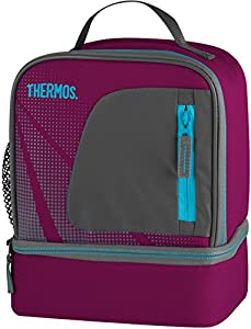 Thermos Radiance Dual Compartment Lunch Kit, Grape