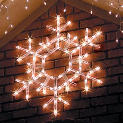 "20"" Led Folding Snowflake Decoration, 70 Cool White Lights front-94804"