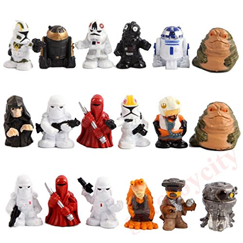 18Pcs Set Mini Star Wars R2 D2 Stormtrooper Birthday Cake Action Figures New