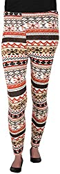 Misstress Women's Woolen Slim Fit Leggings (A-4 PRINTS RED)