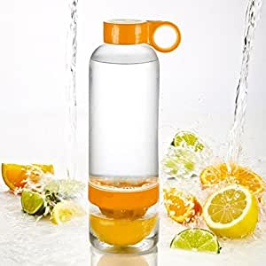SHOPINNOV Bouteille Presse agrumes intégré Coloris Orange