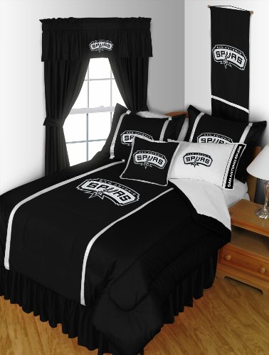 San Antonio Spurs 4 Pc QUEEN Comforter Set (Comforter, 2 Shams, 1 Bedskirt) SAVE BIG... by Sports Coverage