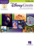 Disney Greats Songbook for Violin - BK+CD