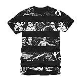 Star Wars Star Stripes Darth Vader Han Solo Episode IV Adult T-shirt - Black