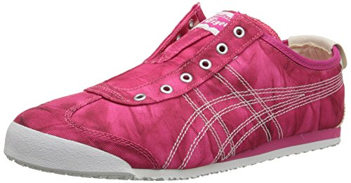Onitsuka Tiger Women's Mexico 66 Slip-On Classic Running Shoe, Fest Fuchsia/White, 10 M US