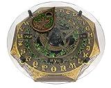 Black Cat Crescent Moon Pentacle Glass Top Ouija Board