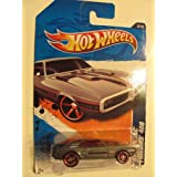 2011 Hot Wheels 67 PONTIAC FIREBIRD 400 Street Beasts 6 Of 10, #86 Dark Grey, Red Spoke Wheels