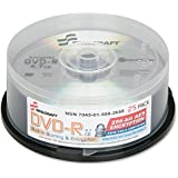 SKILCRAFT 7045-01-599-2658 Encrypted DVD-R On Spindle 4.7GB Capacity Silver Pack Of 25 1-Pack