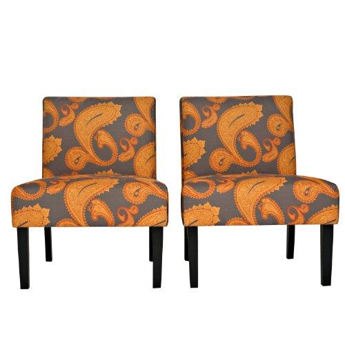 angelohome-bradstreet-desert-sunset-brown-paisley-armless-chair-set-of-2