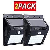 Solar Powered Motion Sensor Light 12 LEDs Wall Light for Yard Garden Path 2-Pack