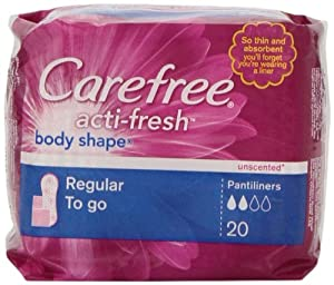 CAREFREE® ACTI-FRESH® Pantiliners Regular To Go Unscented 18/20ct
