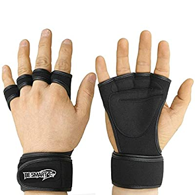 Crossfit Gloves - Weight Lifting Gloves - Fitness Gym Weightlifting gloves- Neoprene Wrist Support Wraps Straps Gel Gloves from Be Smart