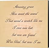 Amazing Grace by Veruca Salt Canvas Art Wall Picture, Museum Wrapped with Black Sides, 8 x 8 inches