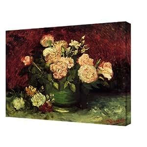 Amazon.com - El lienzo de Van Gogh Rosas y Peonies Lienzo Envuelto -