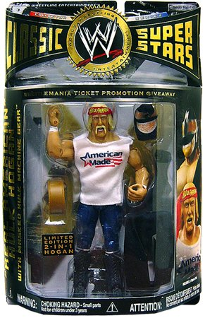 Buy Low Price Jakks Pacific WWE Classic Superstars Exclusive Action Figure Hulk Hogan American Made Masked Hulk Machine Gear (B004RPS2BI)
