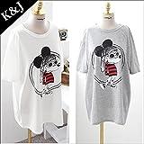 ミッキープリントTシャツ 802 4123 (グレー)