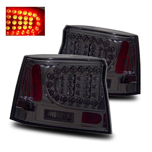 Sppc Smoke Led Tail Lights For Dodge Charger - Passenger And Driver Side