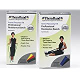 Thera-Band Latex Free Active Recovery Kits, Blue/Black, Advance (5 Ft Bands)