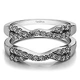 Infinity Cross Wedding Ring Guard Enhancer