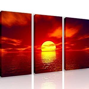 M504 red soul 3 quadri moderni 120x80 cm stampa digitale su tela ideale per arredo - Quadri moderni per cucina ...